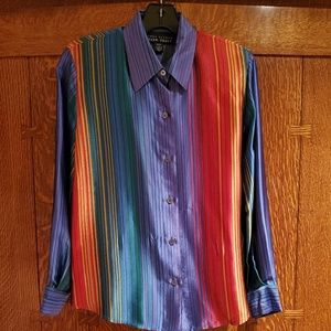Linda Allard for Ellen Tracy Silk Petite Blouse